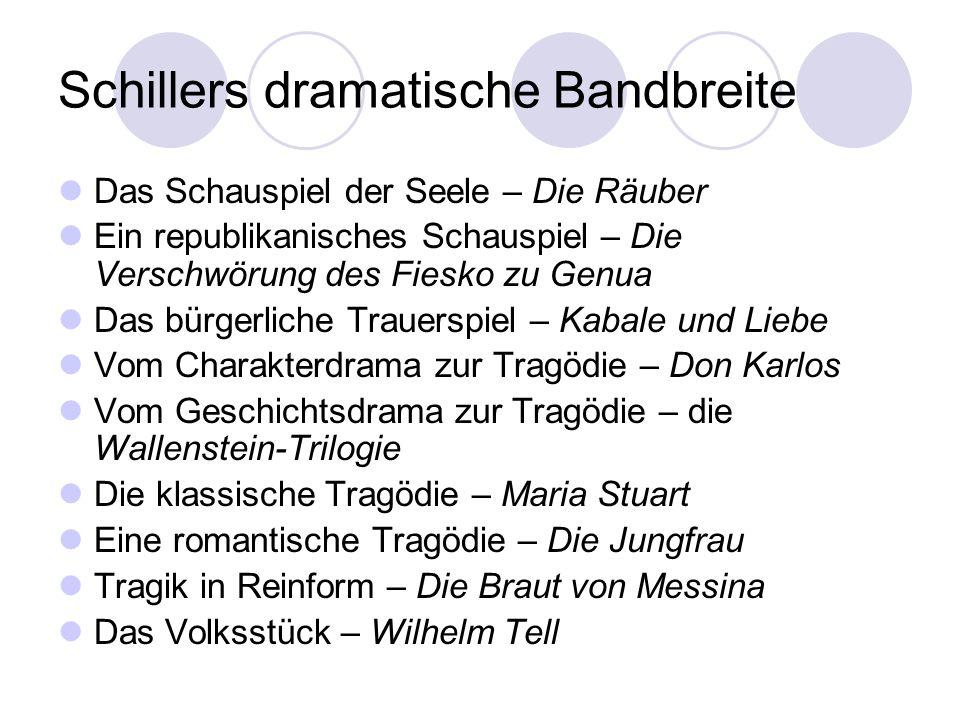 Schillers dramatische Bandbreite