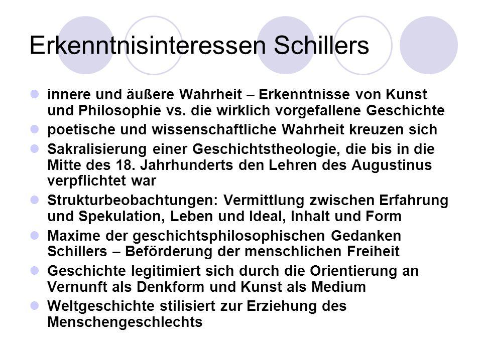 Erkenntnisinteressen Schillers
