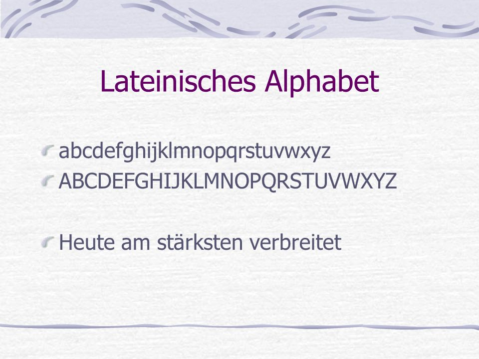 Lateinisches Alphabet