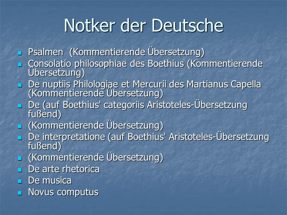 Notker der Deutsche Psalmen (Kommentierende Übersetzung)