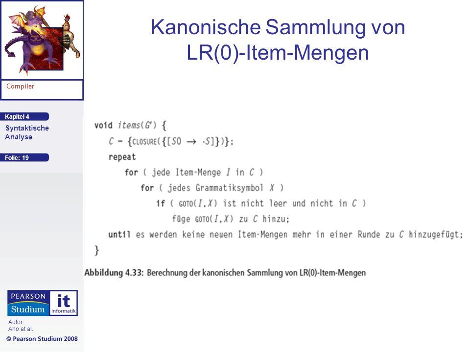 Kanonische Sammlung von LR(0)-Item-Mengen