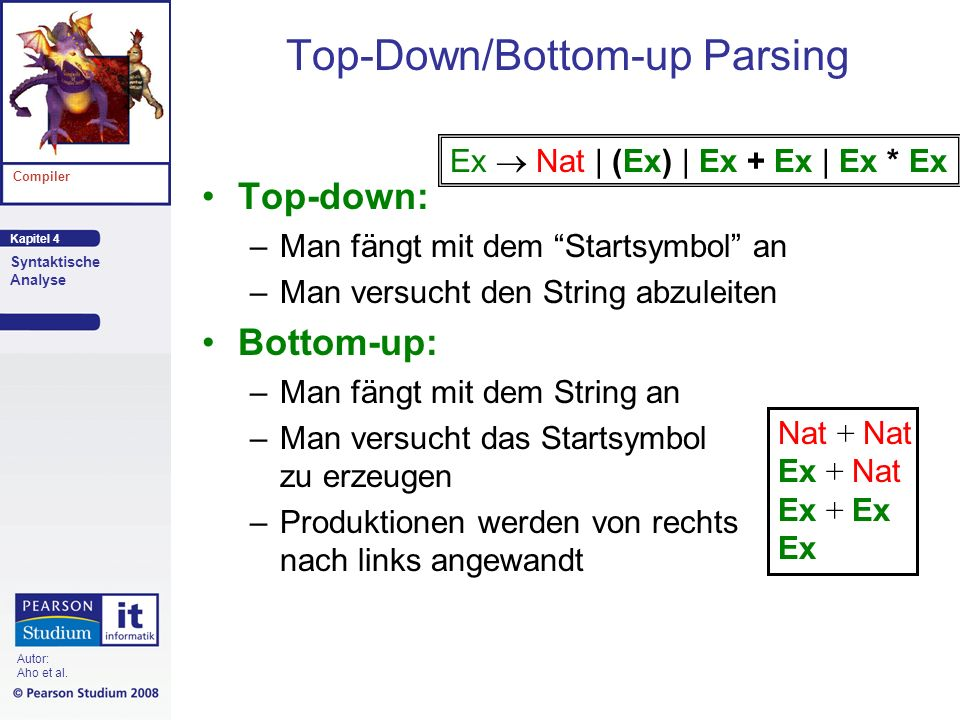 Top-Down/Bottom-up Parsing