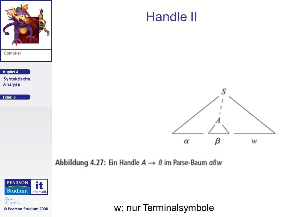 Handle II w: nur Terminalsymbole