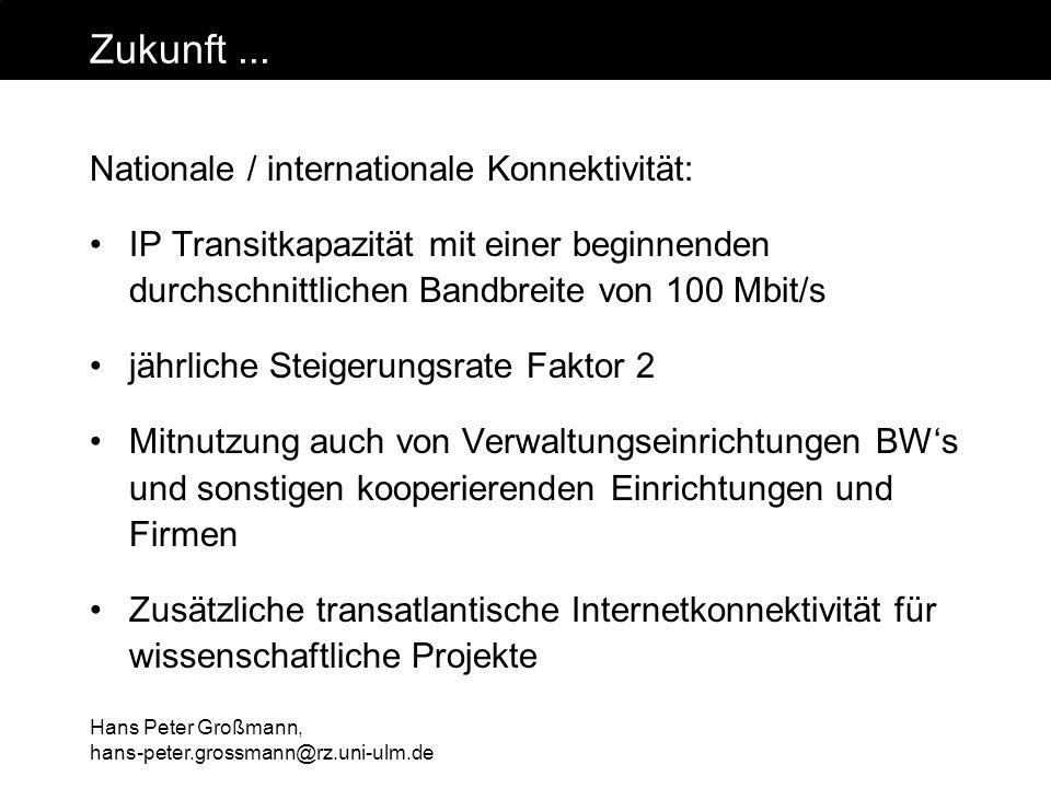Zukunft ... Nationale / internationale Konnektivität:
