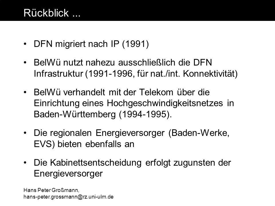 Rückblick ... DFN migriert nach IP (1991)