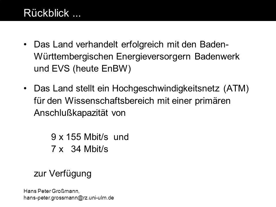 Rückblick ... Das Land verhandelt erfolgreich mit den Baden- Württembergischen Energieversorgern Badenwerk und EVS (heute EnBW)