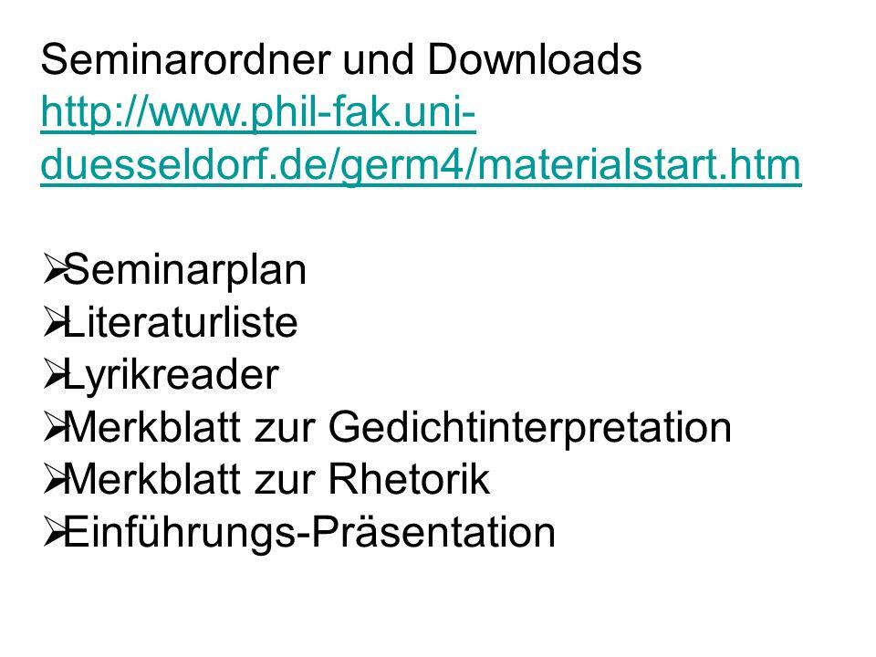 Seminarordner und Downloads