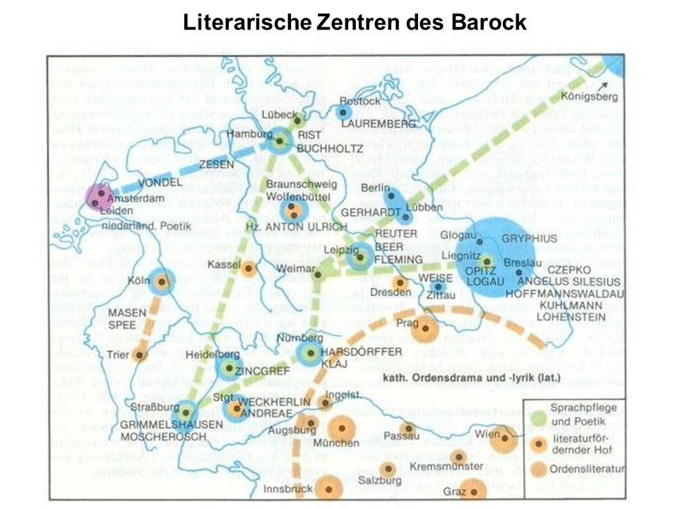 Literarische Zentren des Barock