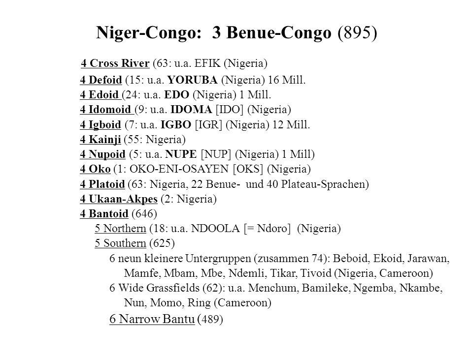 Niger-Congo: 3 Benue-Congo (895)