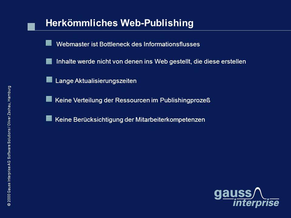 Herkömmliches Web-Publishing