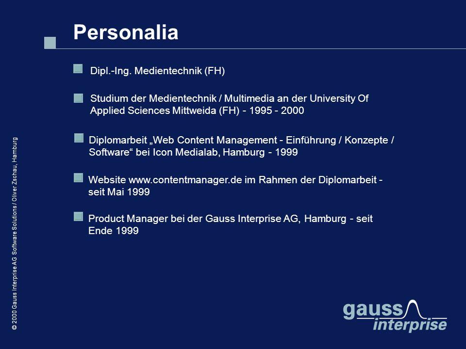 Personalia Dipl.-Ing. Medientechnik (FH)