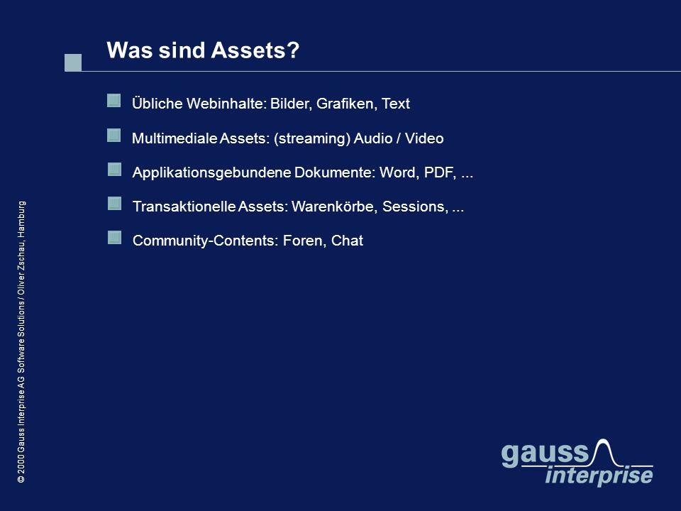 Was sind Assets Übliche Webinhalte: Bilder, Grafiken, Text