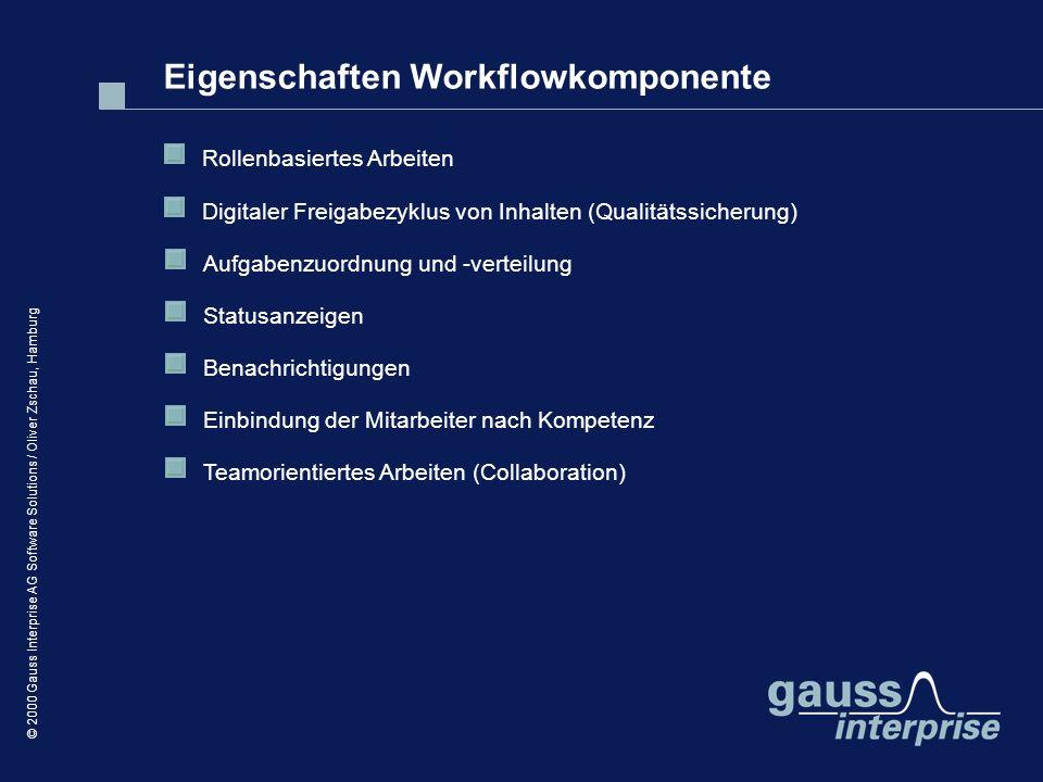 Eigenschaften Workflowkomponente