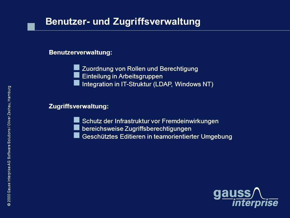 Benutzer- und Zugriffsverwaltung