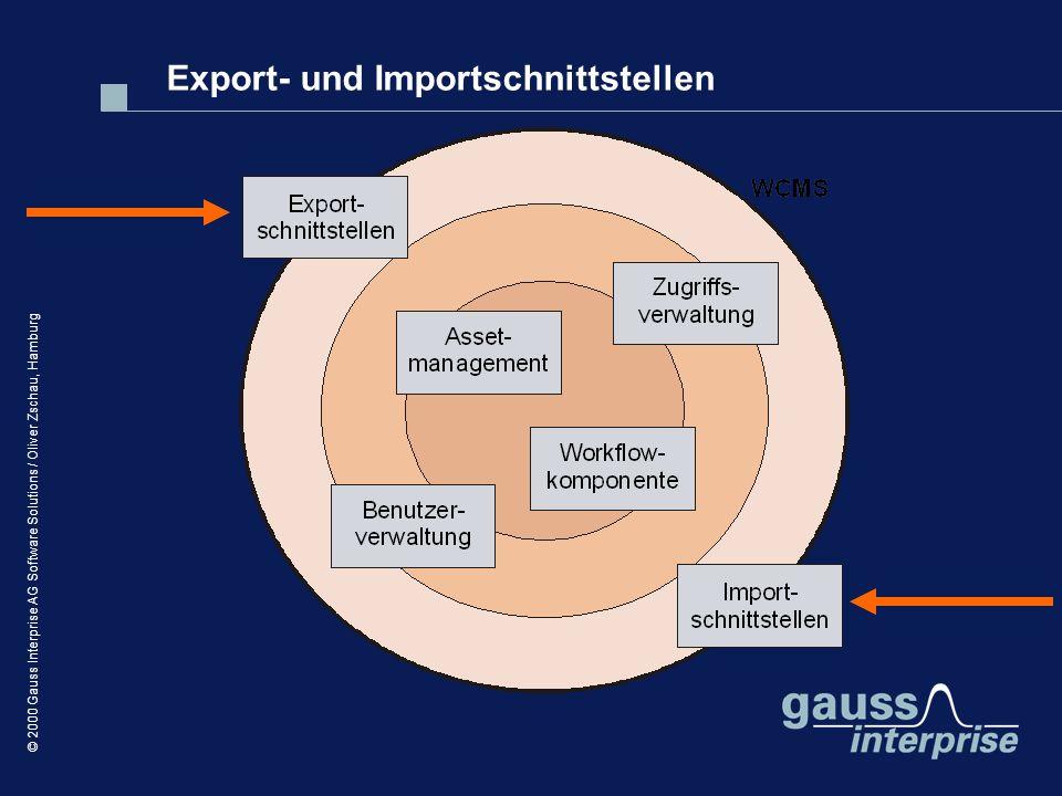 Export- und Importschnittstellen