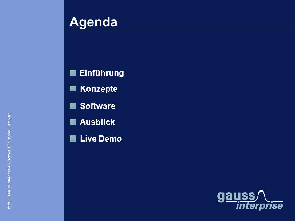 Agenda Einführung Konzepte Software Ausblick Live Demo