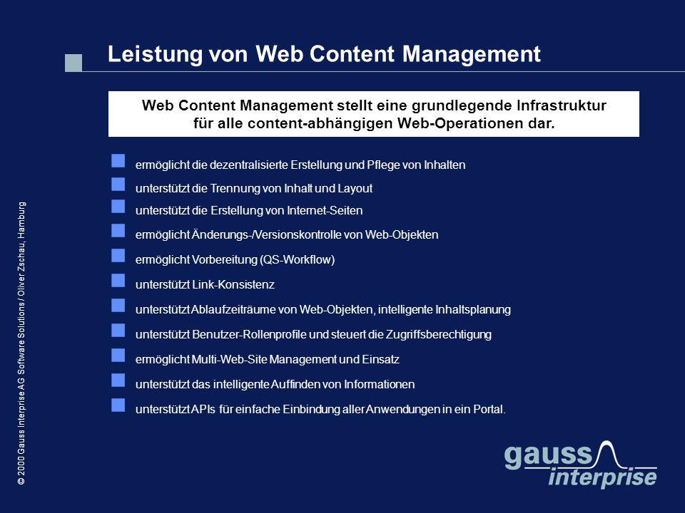 Leistung von Web Content Management