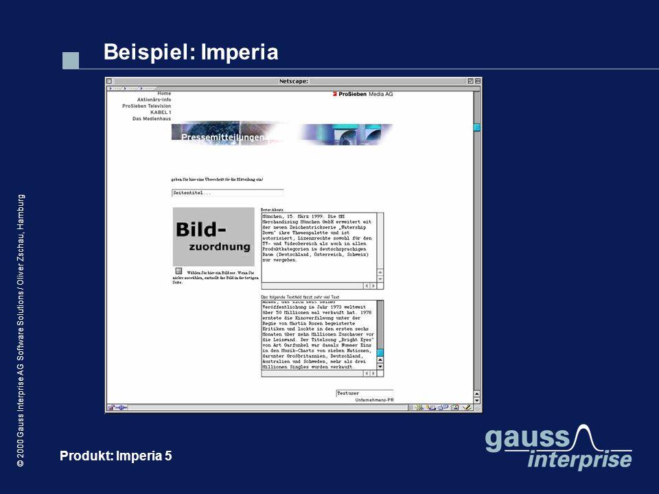 Beispiel: Imperia Produkt: Imperia 5