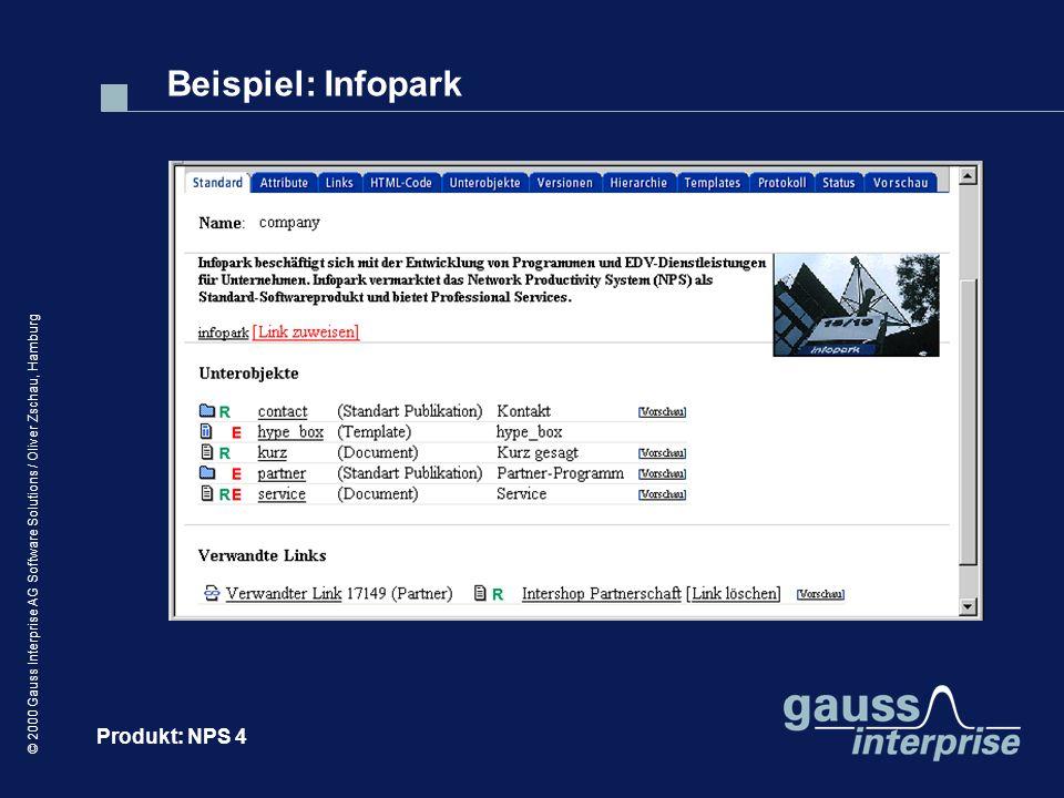 Beispiel: Infopark Produkt: NPS 4