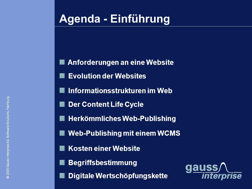 Agenda - Einführung Anforderungen an eine Website
