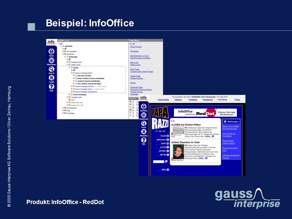 Beispiel: InfoOffice Produkt: InfoOffice - RedDot