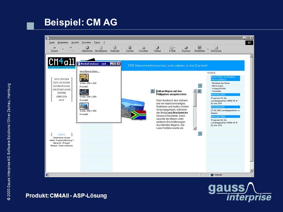 Beispiel: CM AG Produkt: CM4All - ASP-Lösung