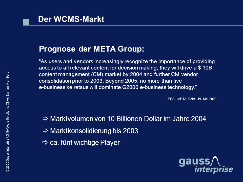 Prognose der META Group: