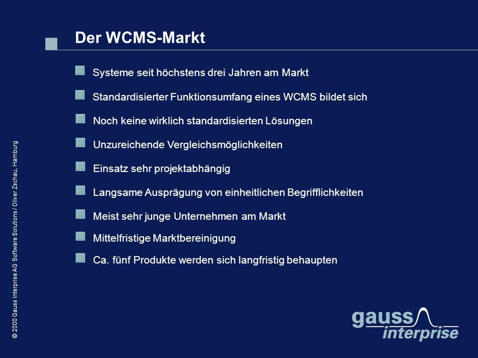 Der WCMS-Markt Systeme seit höchstens drei Jahren am Markt
