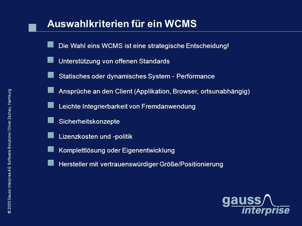 Auswahlkriterien für ein WCMS