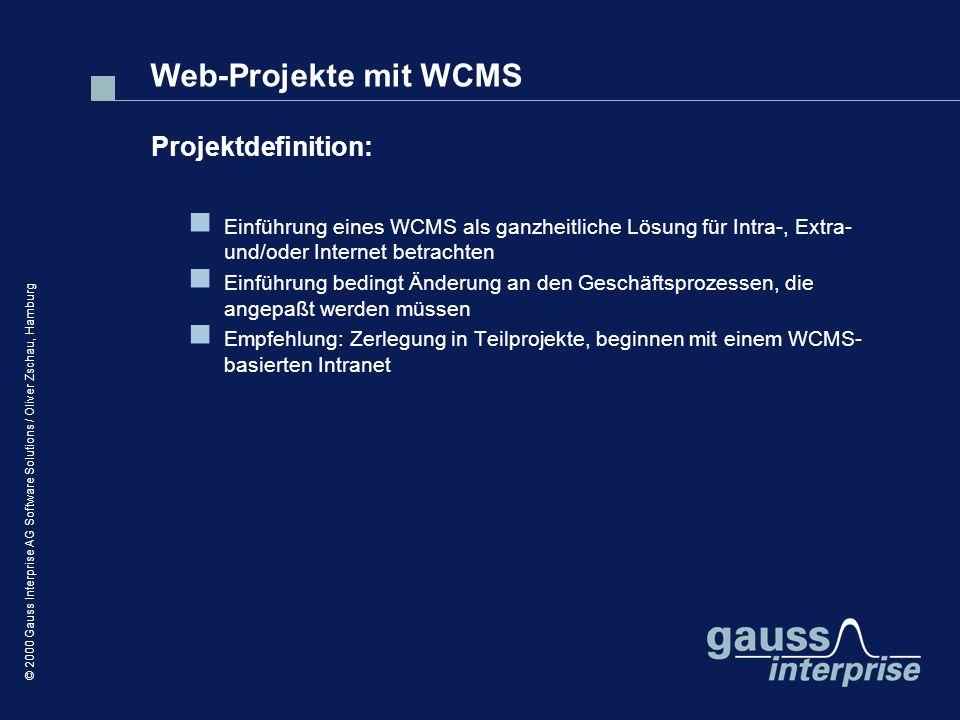 Web-Projekte mit WCMS Projektdefinition: