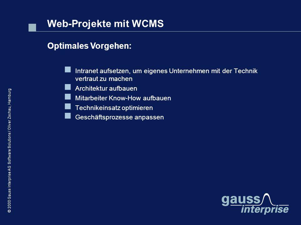 Web-Projekte mit WCMS Optimales Vorgehen: