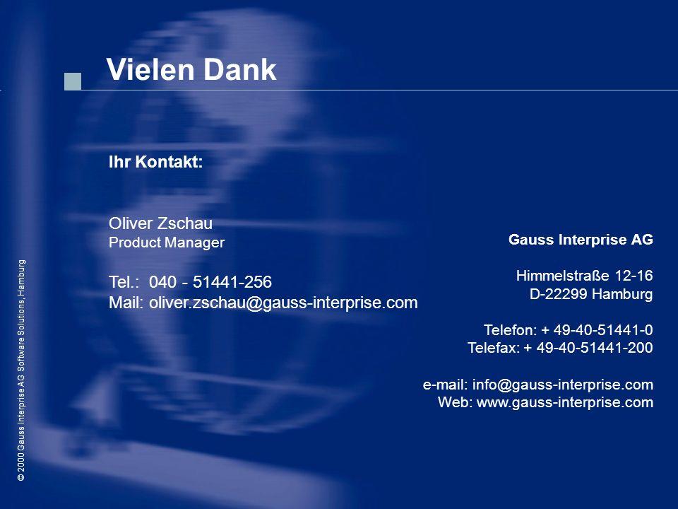 Vielen Dank Ihr Kontakt: Oliver Zschau Tel.: 040 - 51441-256