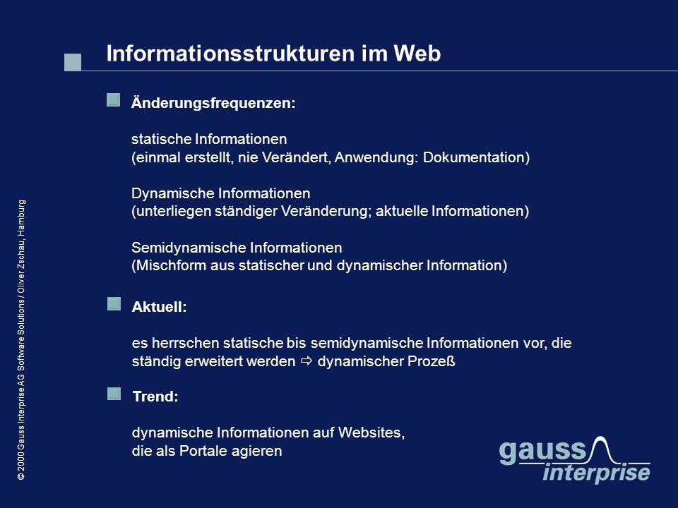 Informationsstrukturen im Web