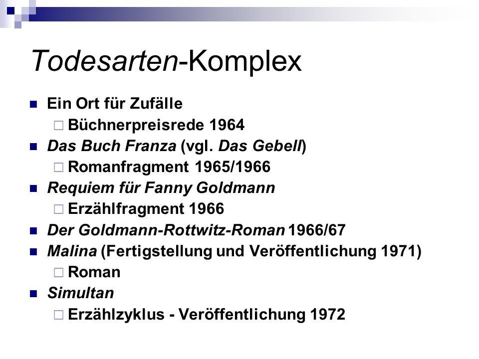 Todesarten-Komplex Ein Ort für Zufälle Büchnerpreisrede 1964