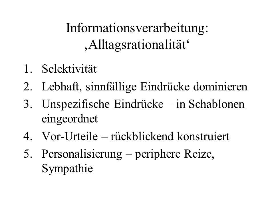 Informationsverarbeitung: 'Alltagsrationalität'