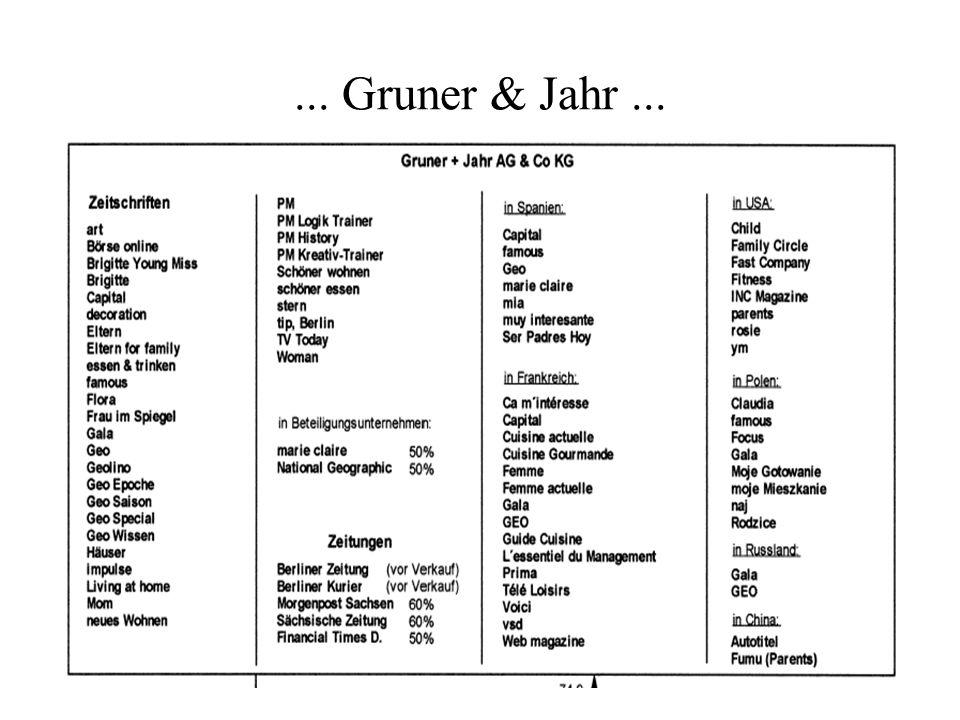 ... Gruner & Jahr ...