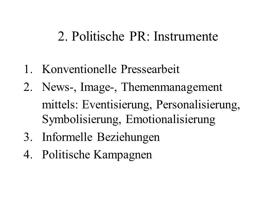 2. Politische PR: Instrumente