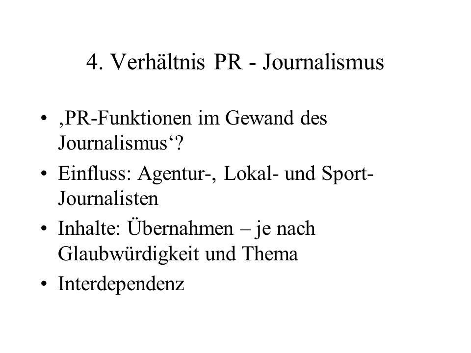 4. Verhältnis PR - Journalismus