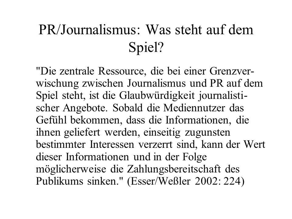 PR/Journalismus: Was steht auf dem Spiel
