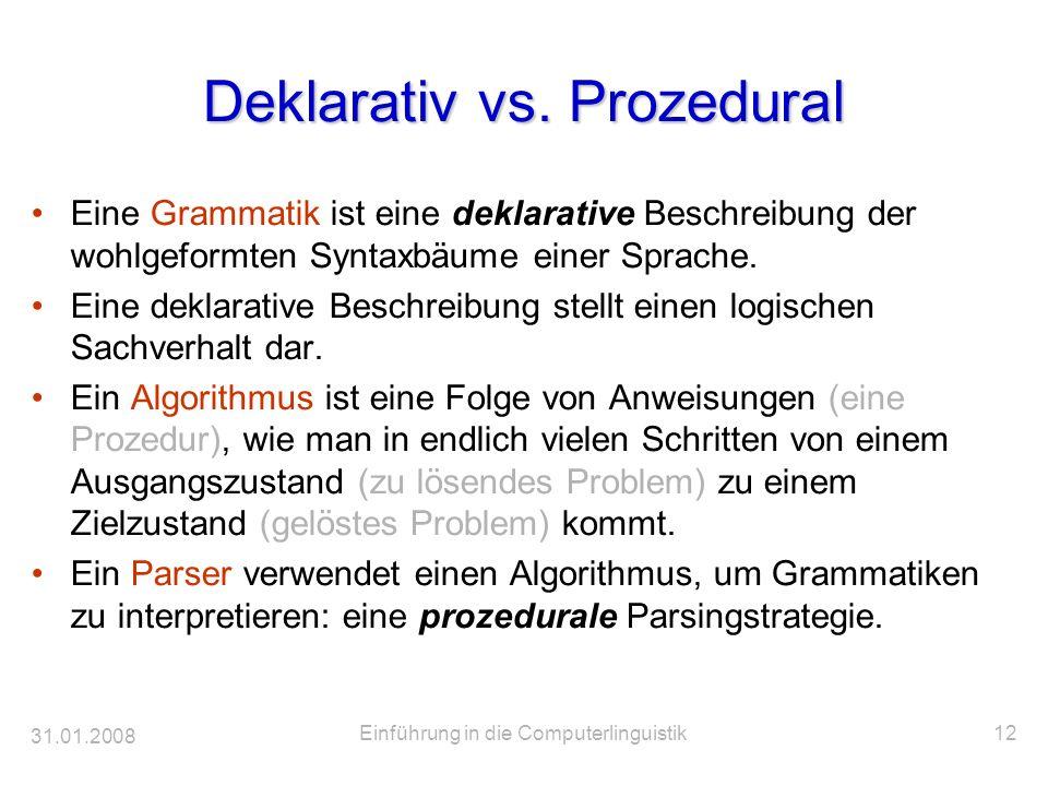Deklarativ vs. Prozedural