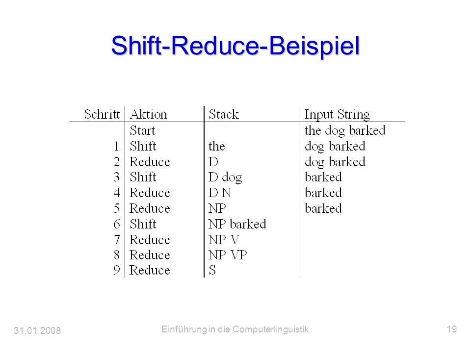 Shift-Reduce-Beispiel