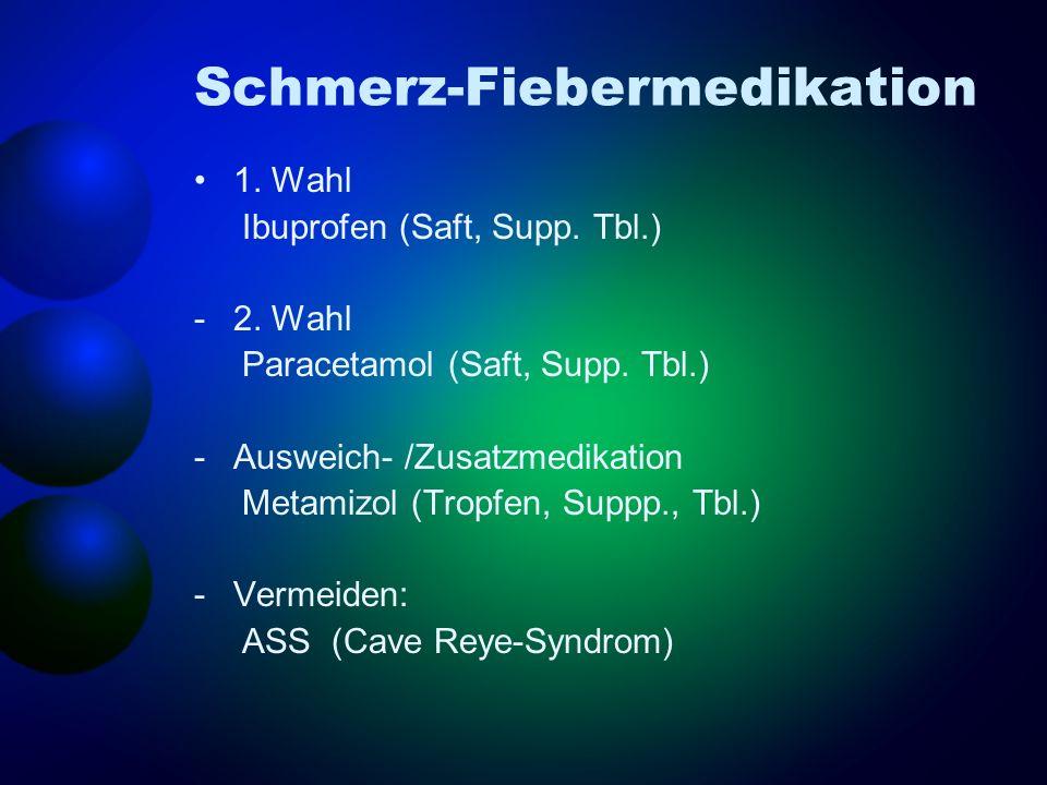 Schmerz-Fiebermedikation