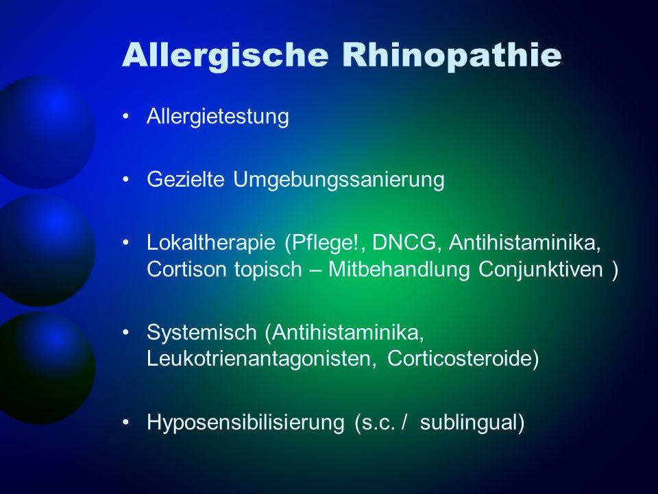 Allergische Rhinopathie