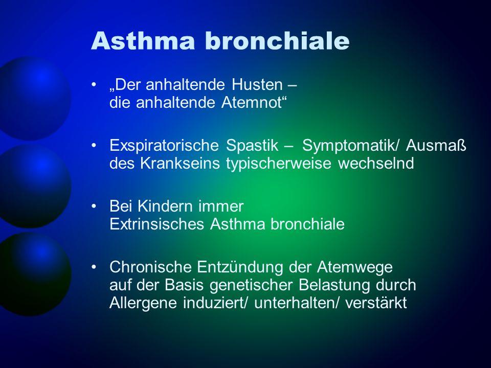 """Asthma bronchiale """"Der anhaltende Husten – die anhaltende Atemnot"""