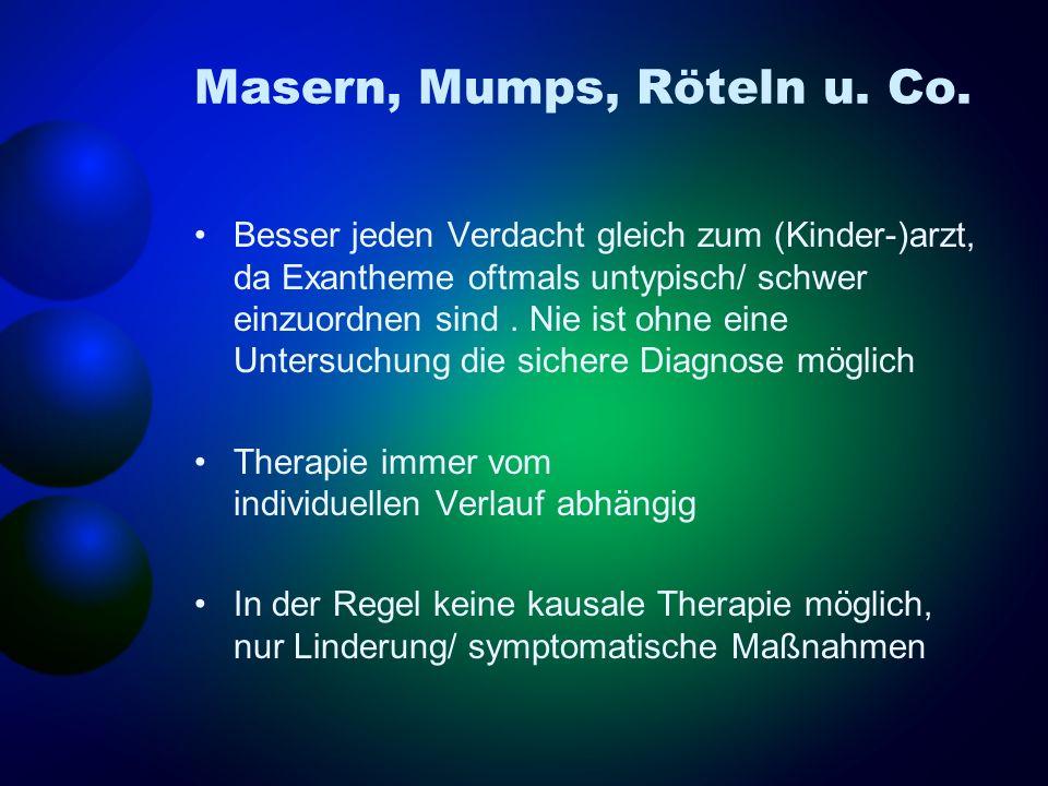 Masern, Mumps, Röteln u. Co.