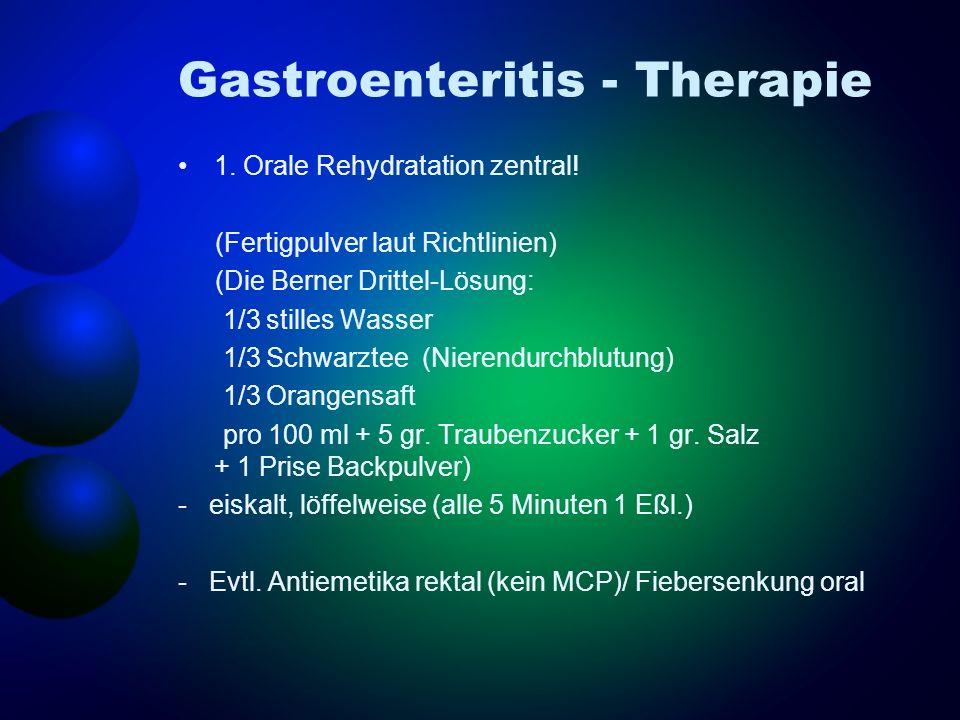 Gastroenteritis - Therapie
