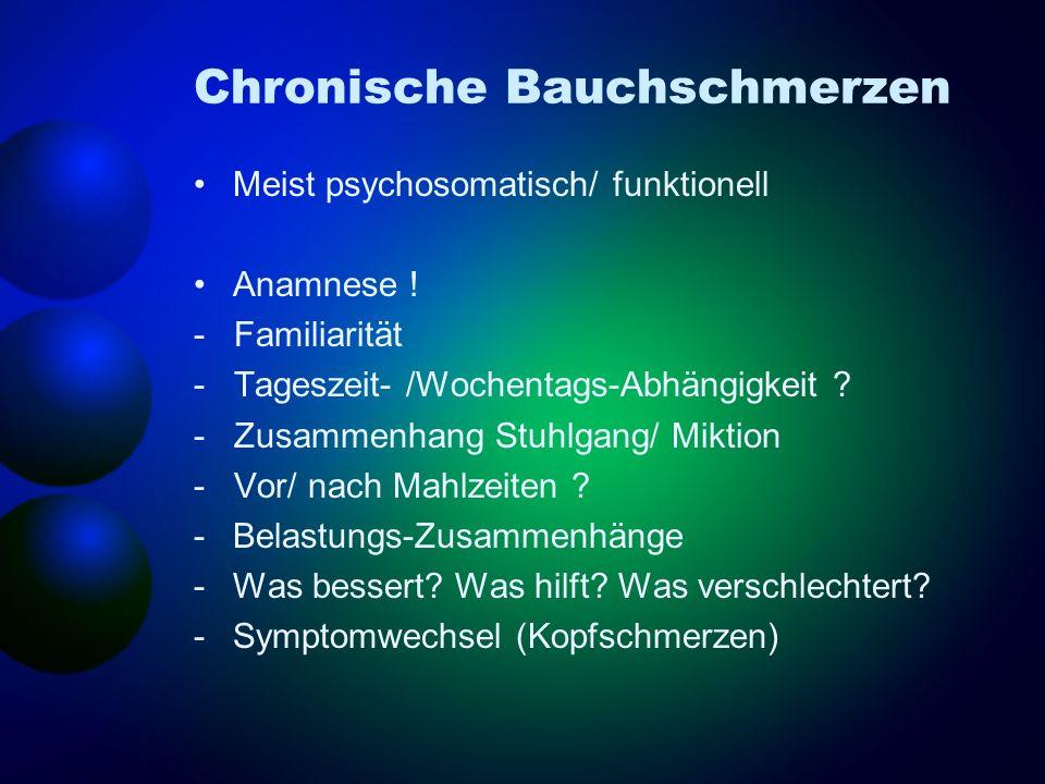Chronische Bauchschmerzen