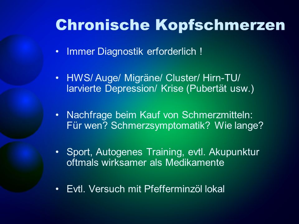 Chronische Kopfschmerzen