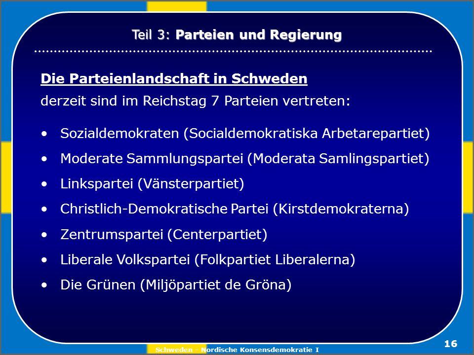 Schweden - Nordische Konsensdemokratie I