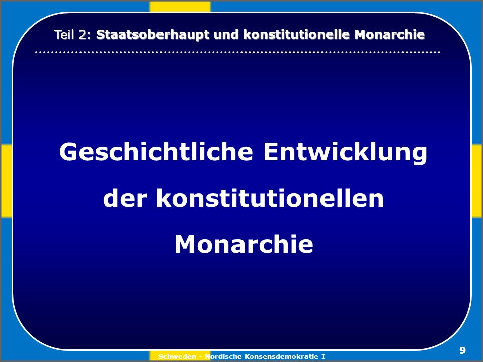 Geschichtliche Entwicklung der konstitutionellen Monarchie
